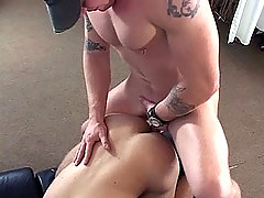 White studs having a good time blowjob and anal action